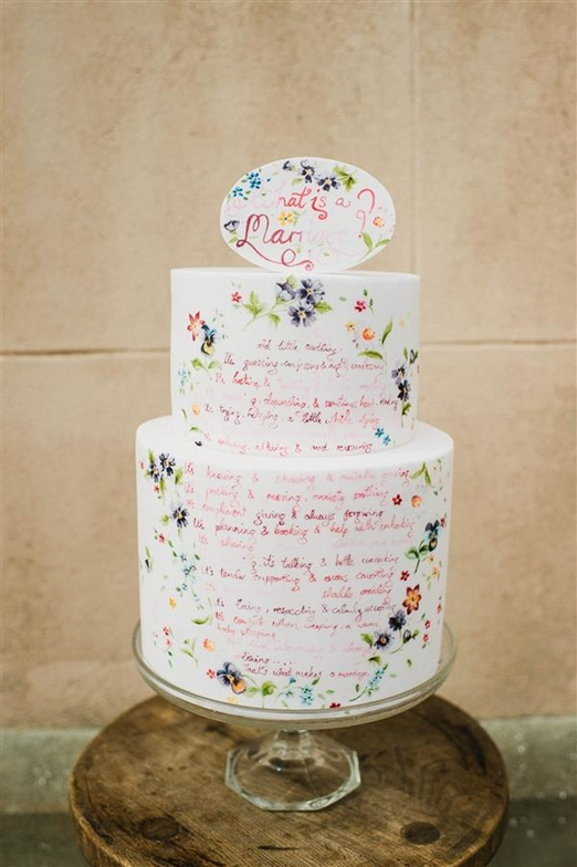 painted wedding cakes uk buns of baking for every occasion 18106